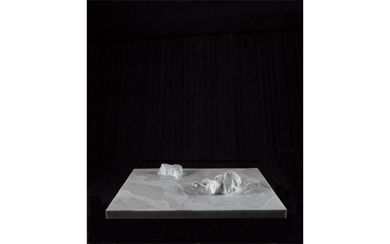 Selbst (Suicide Terrorist), 2000-02. Carrara Marble, 27 x 151 x 120 cm.